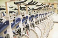 Row of Exercise Bikes