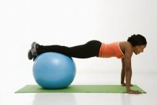 Woman doing push ups.