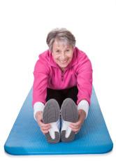 Senior Woman Stretching Her Legs