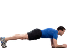 Abdominals workout posture Plank basic plank