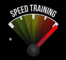 speed training concept speedometer