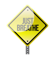 Just Breathe road sign illustration design