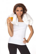 woman drinking energy-drink
