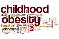 Childhood obesity word cloud
