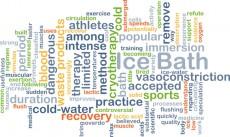 Ice bath background concept