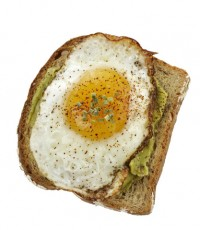 Avocado Sandwich With Fried Egg.