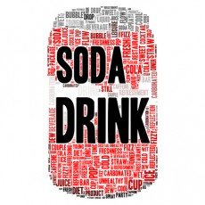 Soda drink word cloud concept