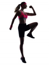 woman fitness jumping  exercises silhouette
