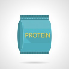 Protein pack flat icon