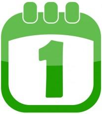Icon 1 April Calendar