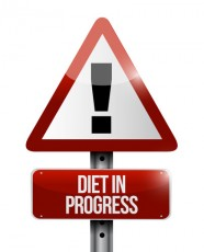 diet in progress warning sign illustration design