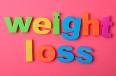 Weight loss words on background
