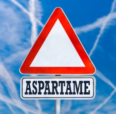 Aspartame traffic warning sign