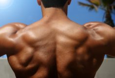 photo of bodybuilder's back with muscles visible