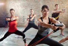 Workout with a resistance band