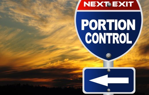 Portion control road sign