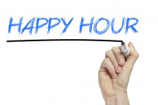 Happy hour business concept