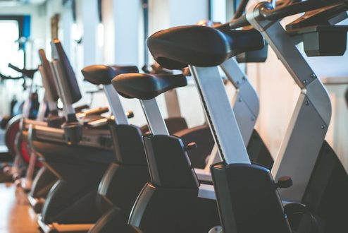 exercise bikes in the gym
